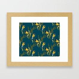 view in the garden Framed Art Print