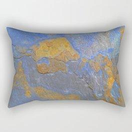 Blue and Orange Marble Pattern Rectangular Pillow
