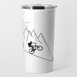 cycling mountain bike mountainbike cyclist bicycle MTB gift Travel Mug