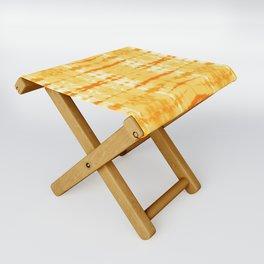 Satin Shibori Yellow Folding Stool