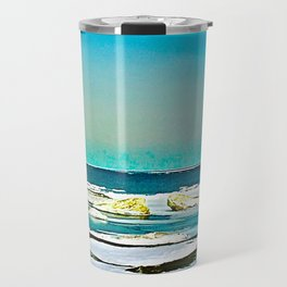 Lake Huron Winter Travel Mug