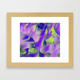 Heavenly Rose Petals Abstract - Purple Framed Art Print