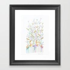 Young plants (Jeunes pousses) Framed Art Print