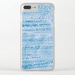 Blue Water Aqua Splash Beading Bouy Clear iPhone Case