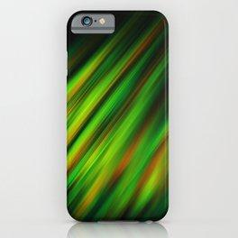 Colorful neon green brush strokes on dark gray iPhone Case