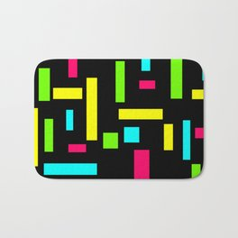 Abstract Theo van Doesburg Composition Neon on Black Bath Mat