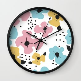 Abstract fowers Wall Clock