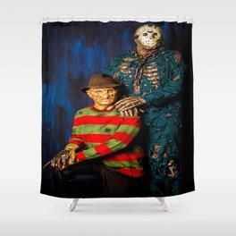 Freddy & Jason Potrait Shower Curtain