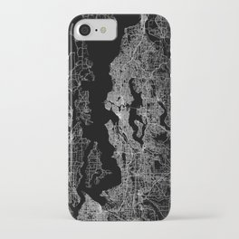 Seattle map iPhone Case