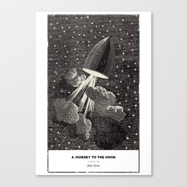 A Journey to the Moon by Jules Verne Canvas Print