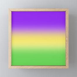 Mardi Gras Ombré Gradient Framed Mini Art Print