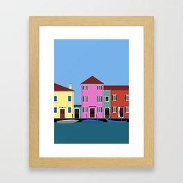 Isola di Burano, Italy Framed Art Print