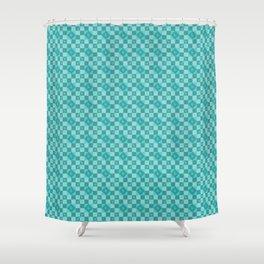 Geometric raptors Shower Curtain