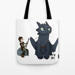 Hungry Toothless Tote Bag