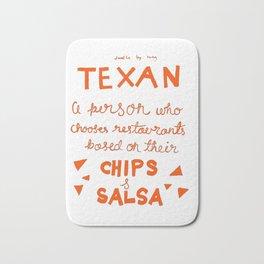 Chips and Salsa in Orange Bath Mat