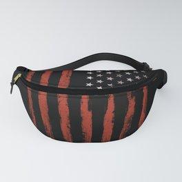 American flag Grunge Black Fanny Pack