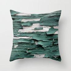 Green Paint III Throw Pillow