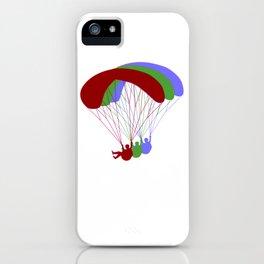 Paragliding RGB Offset iPhone Case