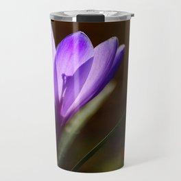 Bright Purple Spring Crocus Travel Mug