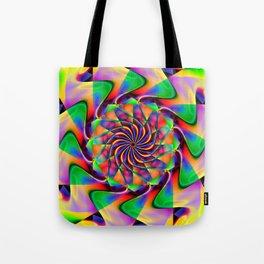 frequency mandala Tote Bag