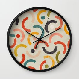 mid century geometric abstract Wall Clock