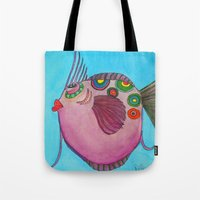 larry david Tote Bags featuring LARRY by Caribbean Critters Co.