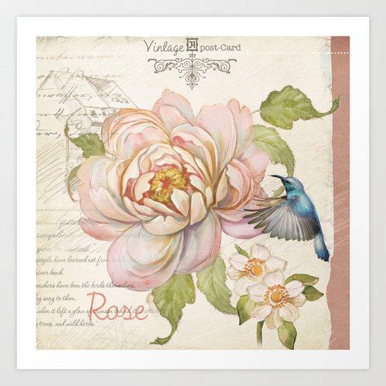 Macro flower #9 Art Print