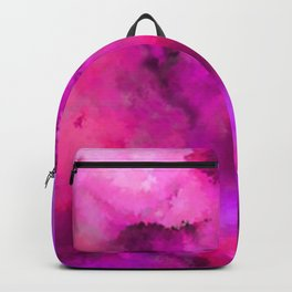 Abstract Pour Art - Pink and Purple Backpack