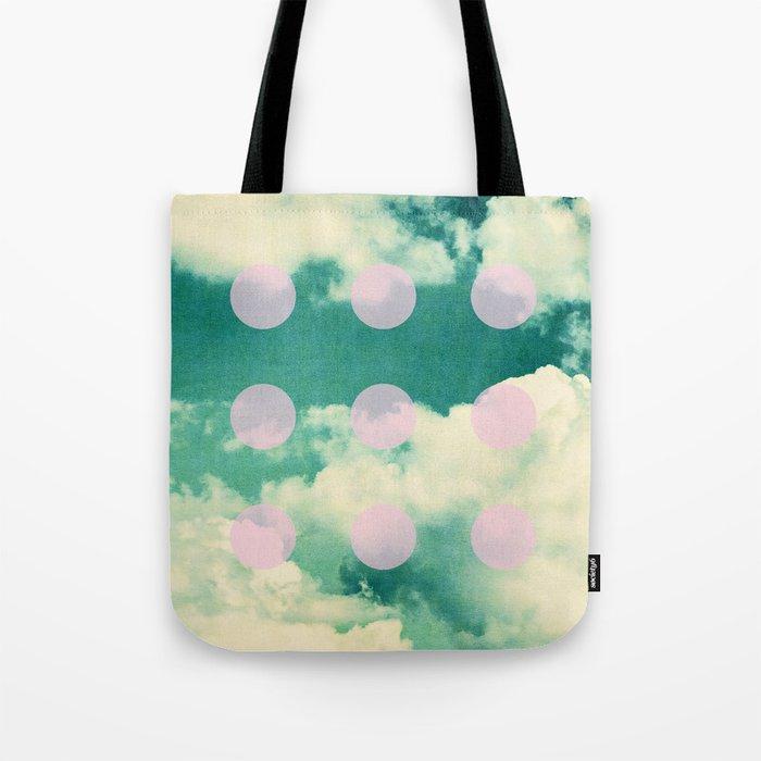 Clouds + Dots Tote Bag