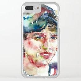 SYLVIA PLATH - watercolor portrait Clear iPhone Case