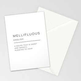 Mellifluous Definition Stationery Cards