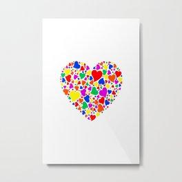 Rainbow Heart Metal Print