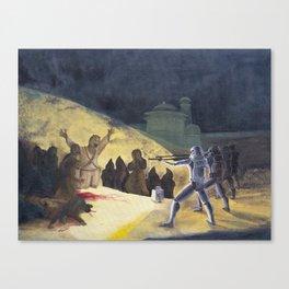 Goya's Troopers Canvas Print