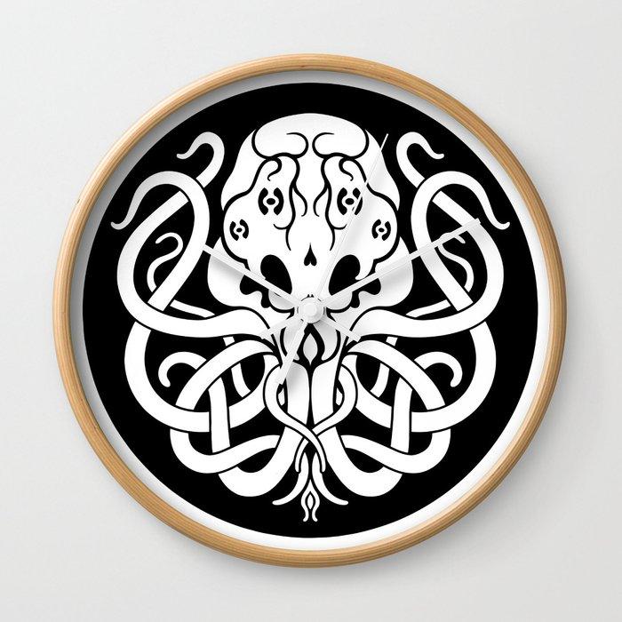 Cthulhu Symbol Wall Clock By Beerymethod Society6