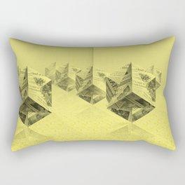 News Cubes Rectangular Pillow