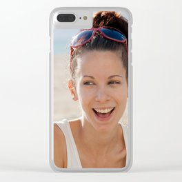 Young female with beautiful smile Clear iPhone Case