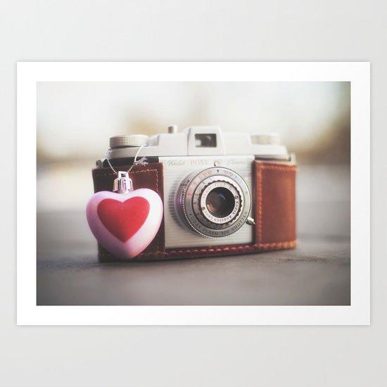 ♥ Kodak Pony Vintage Camera Art Print