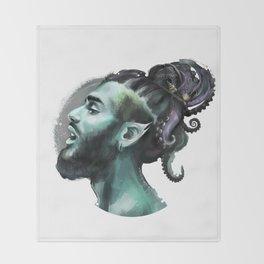 AfroAquaMan Throw Blanket