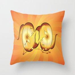 Sternzeichen Fische  Throw Pillow
