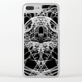 Daily Design 4 - Fractal Jaws Clear iPhone Case