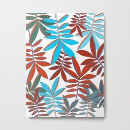 Botanical colorful pattern Metal Print