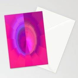 Purple Pixel Sphere Stationery Cards