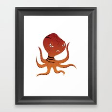 Tiger Squid Framed Art Print