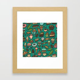 Coffee and pastry  Framed Art Print