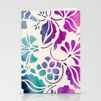 vintage floral Stationery Cards featuring Vintage Floral by Jacqueline Maldonado