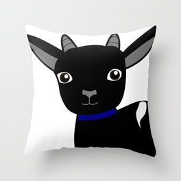 Micky the Goat Throw Pillow