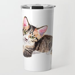 Brown Tabby Baby Cat Travel Mug