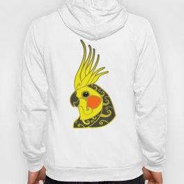 Cockatiel parrot tribal tattoo Hoody