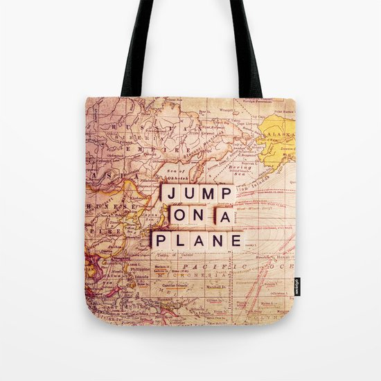 jump on a plane Tote Bag