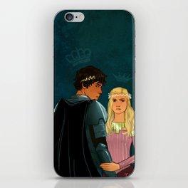 The Brave Princess & The Rebel King iPhone Skin